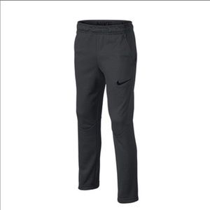 Nike Therma Fit Gray Track Pants Bottom zips Tall